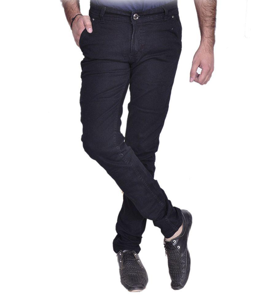 Fashion Flag Blue Cotton Blend Stretchable Jeans