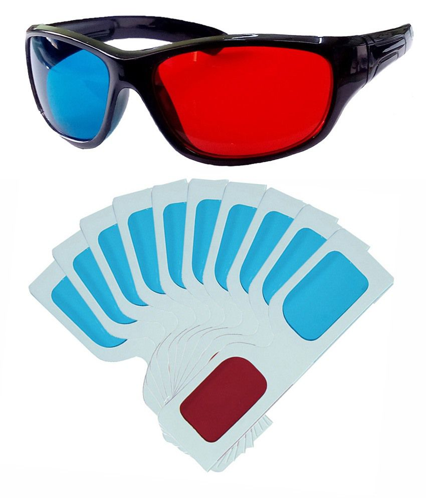 1276c32fad Buy Hrinkar Original Anaglyph 3d Glasses Red And Cyan 1 Plastic + 10 Paper  Offer ( 3d Glass ) Online at Best Price in India - Snapdeal