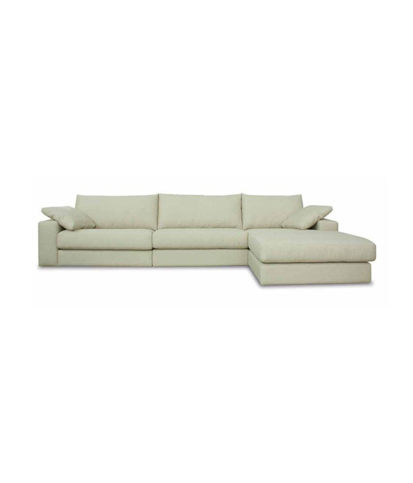 Suedine Furnitech White Natural Finish Sofa Set Buy
