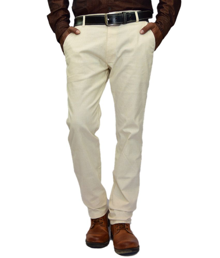 British Terminal Cream Linen Chinos