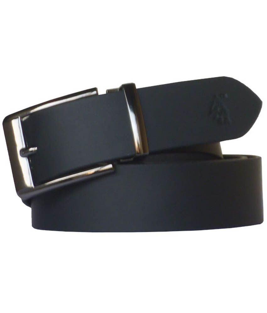 Sondagar Arts Black Leather Formal Men's Belt