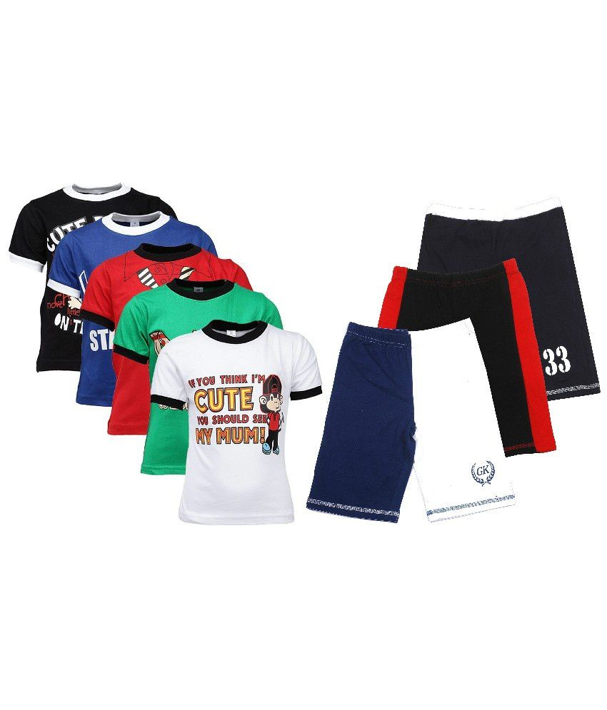 Minimum 60% Off + Extra 20% Off On Boys Tops & Bottom Shirts