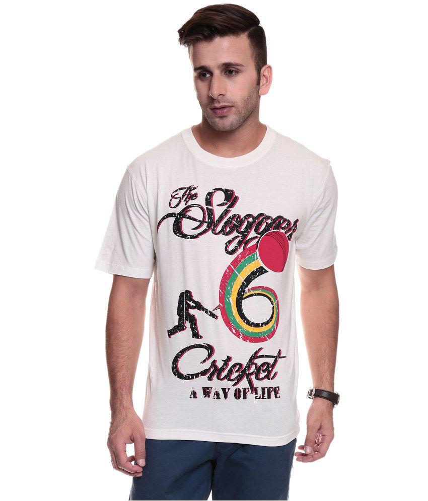 Tsg Escape Men's Round Neck Off White Printed T-shirt