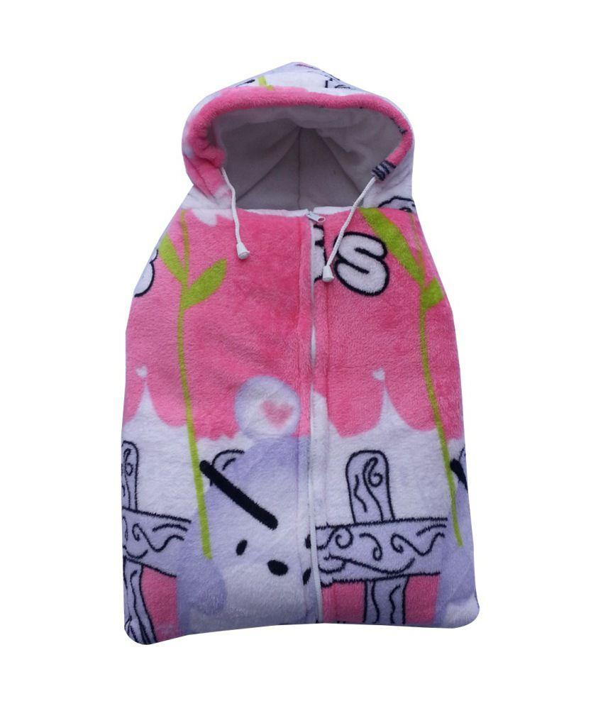 Cute Baby Multicolour Cartoon Hooded Mink Sleeping Bag