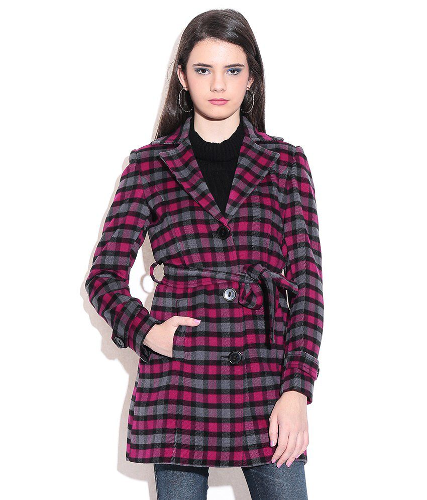 50109c78f9c99a Buy Madame Red Poly Cotton Coats Online at Best Prices in India - Snapdeal