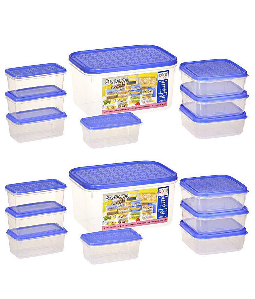 Housewares Store: Ruchi Housewares Storewel Blue Containers 8 Pieces Set