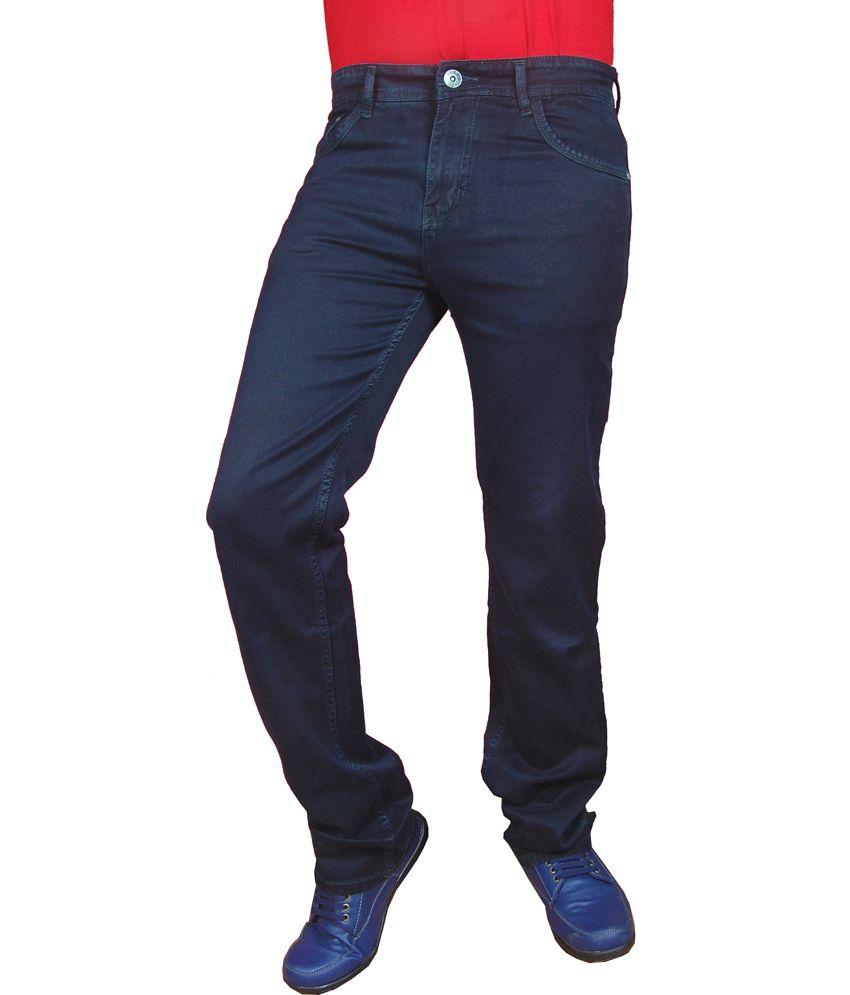 Torbo Denims Blue Regular Fit Men's Cotton Jeans