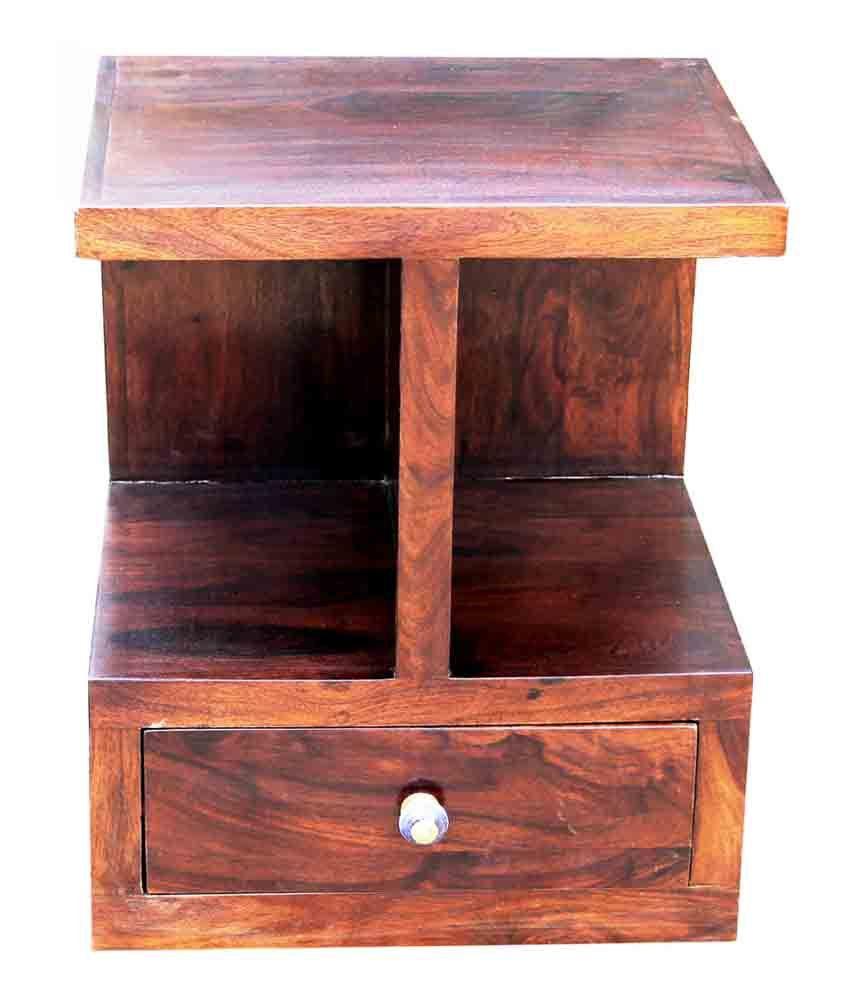 Junglewood Sony Walnut Multipurpose Side Table