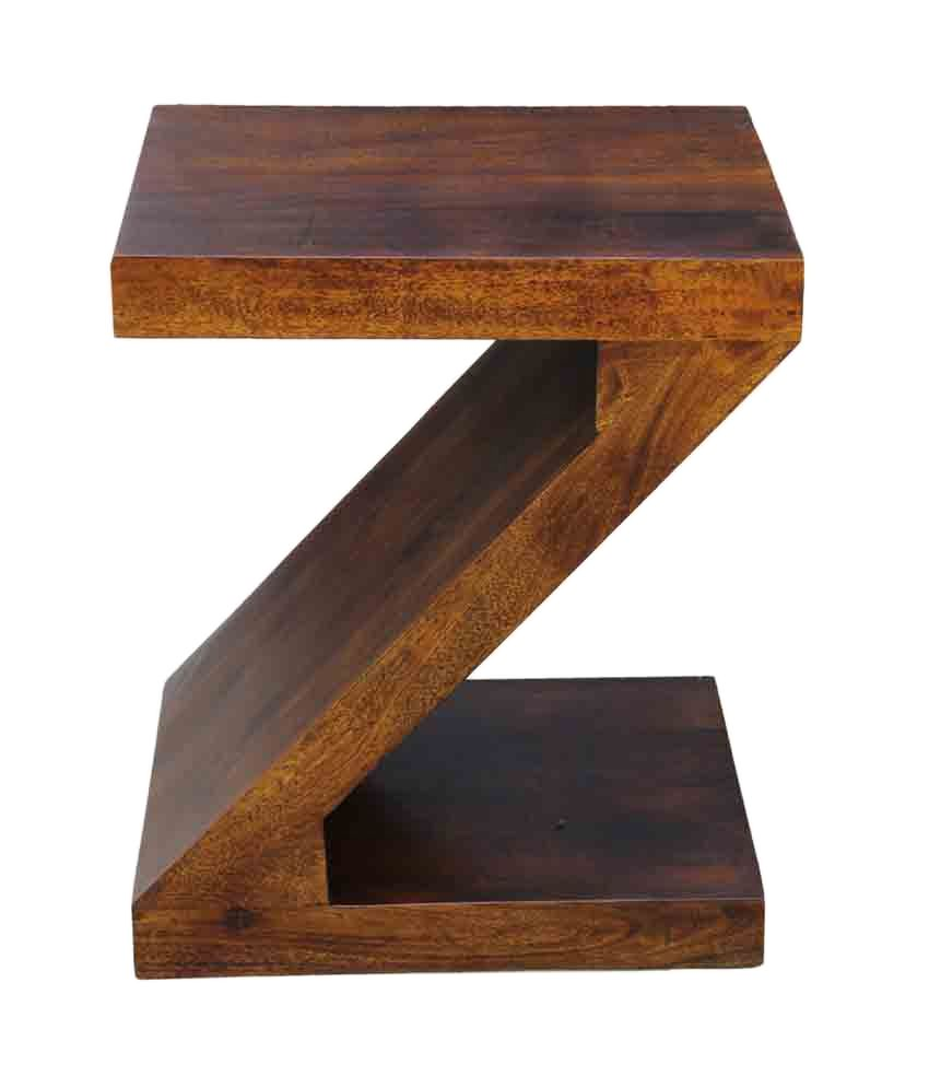 Junglewood Zoro Light Walnut Multipurpose Side Table