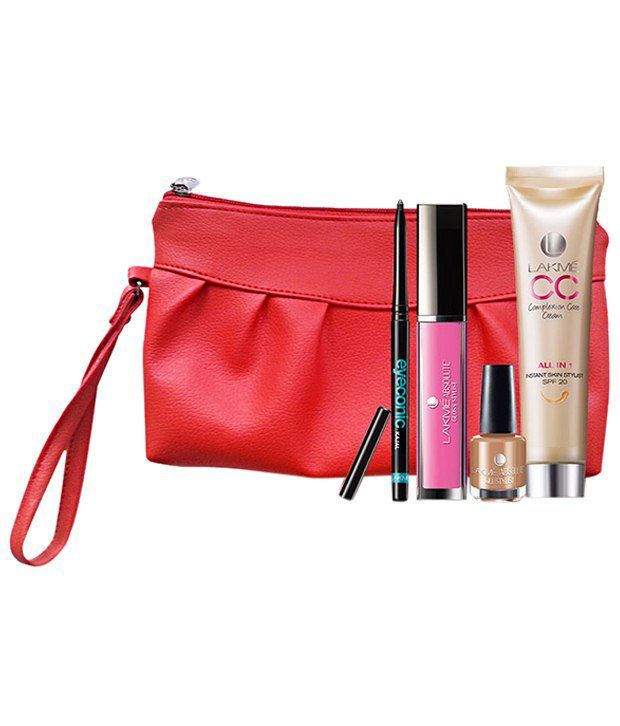 Lakme Makeup Kit (Absolute Lip Gloss 5ml, Absolute Nail Paint 15ml, Lakme Eyeconic Kajal .35 g, Lakme Complexion Care Cream30 ml): Buy Lakme Makeup Kit ...