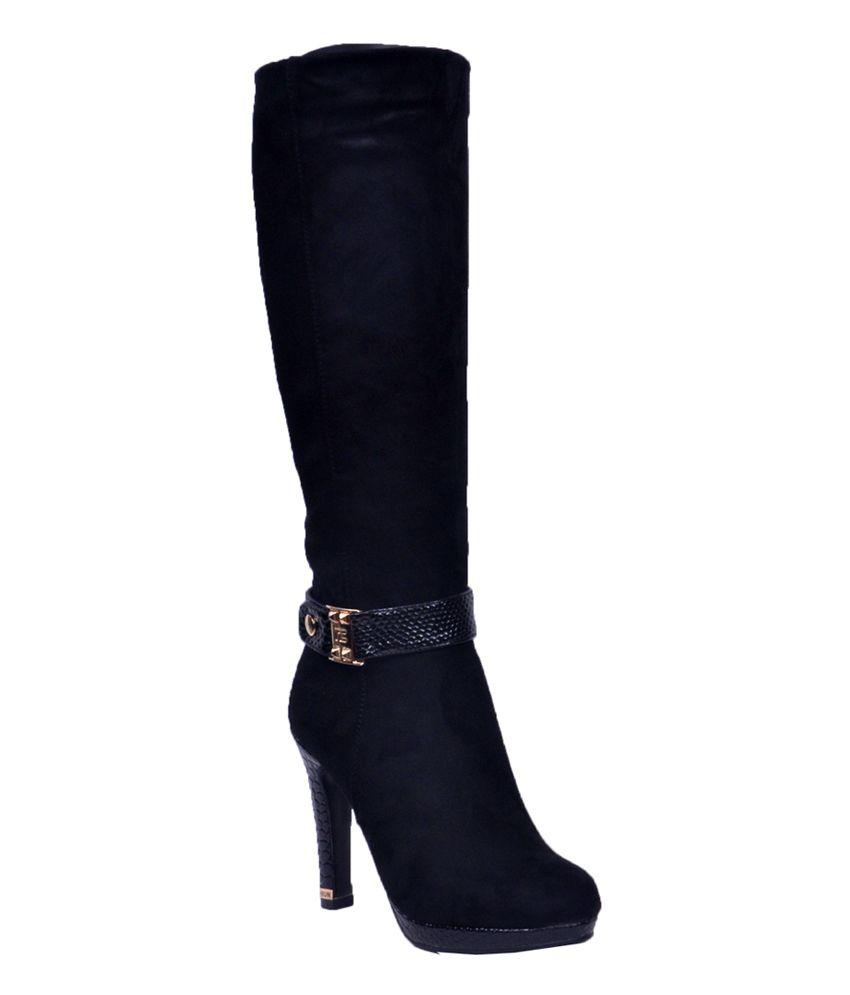 Ronnie Grey Black Cowboy Knee Length