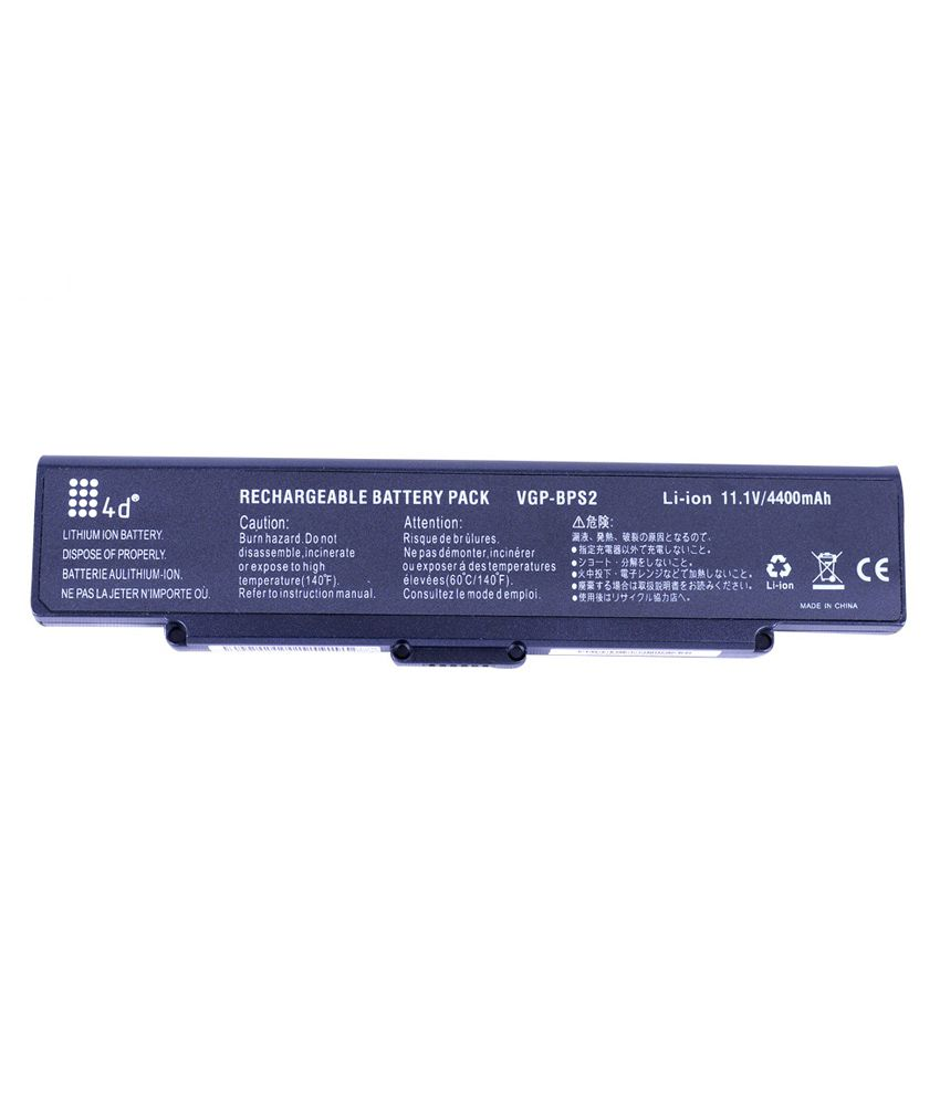 4D Sony Vaio VGN-S54B/S 6 Cell Laptop Battery