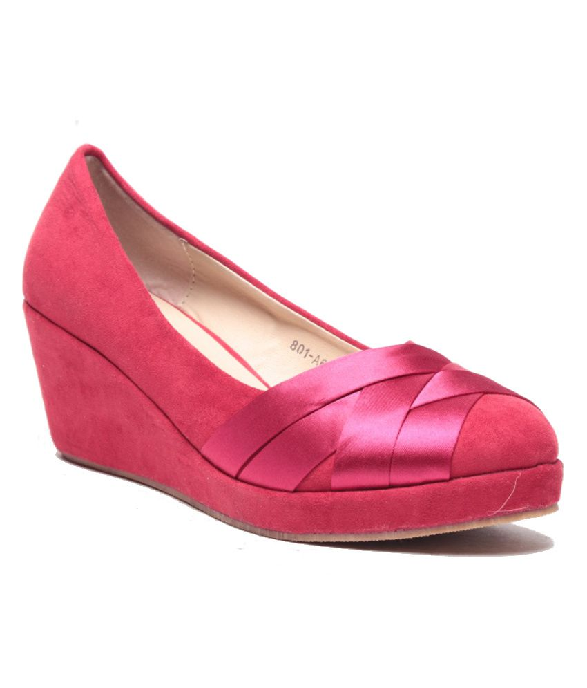 Anand Archies Red Wedges Pumps