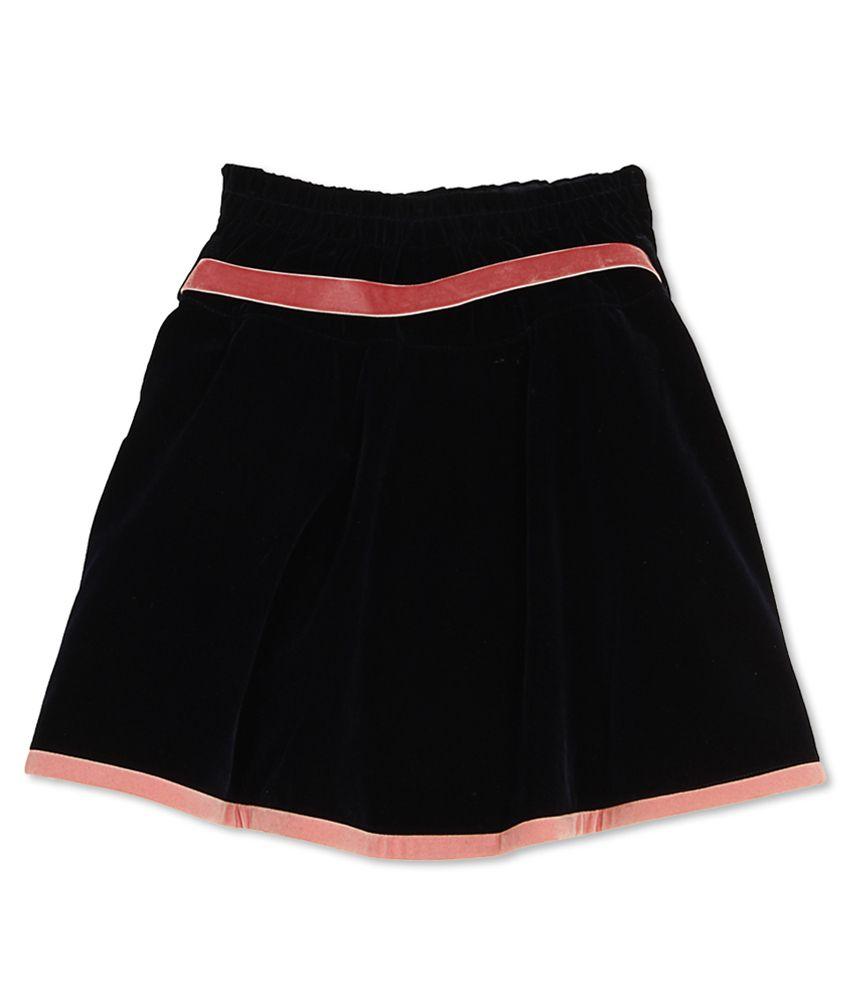 Cutecumber Girl's Blue Regular Fit Skirt