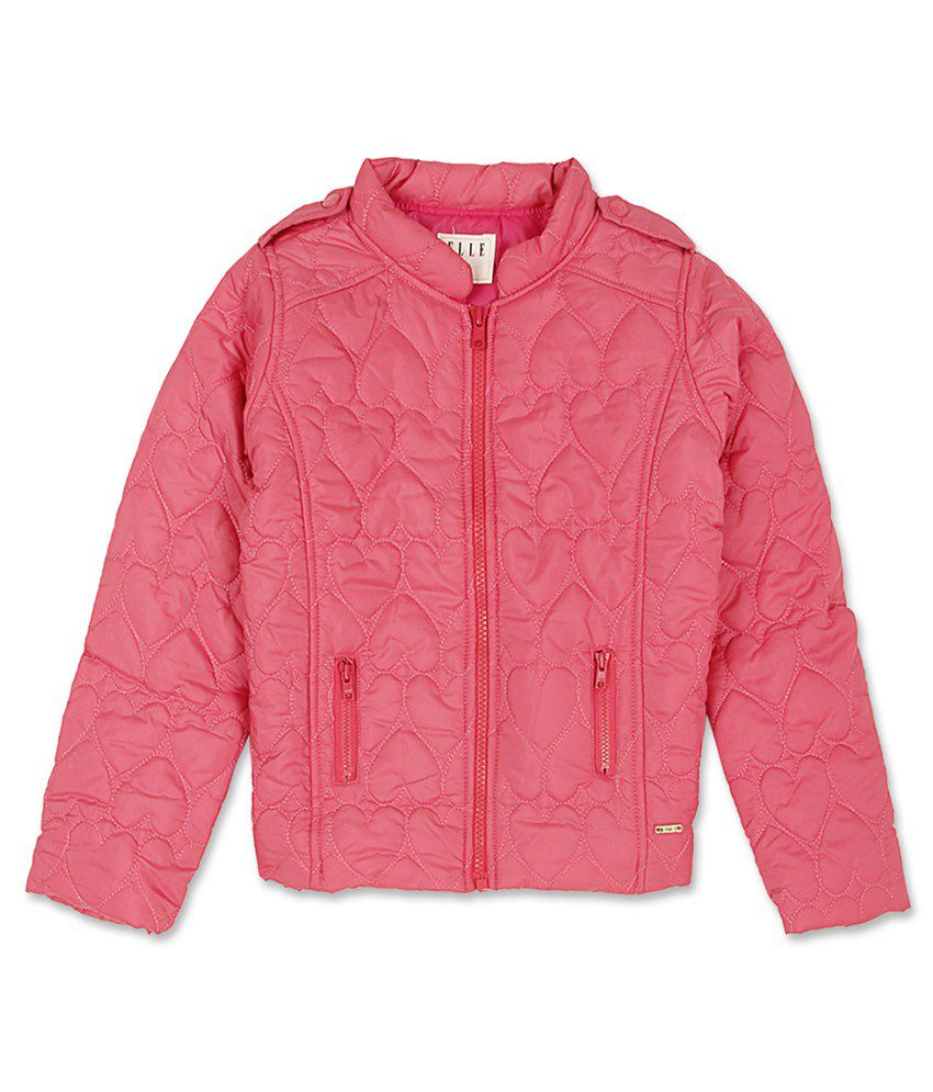 Elle Kids Girl's Pink Regular Fit Jacket