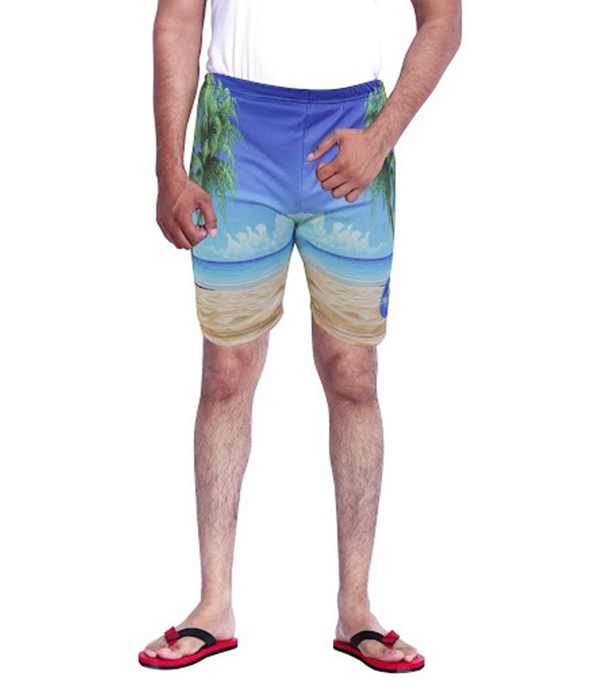 Mitushi Multicolor Polyester Printed Men's Shorts