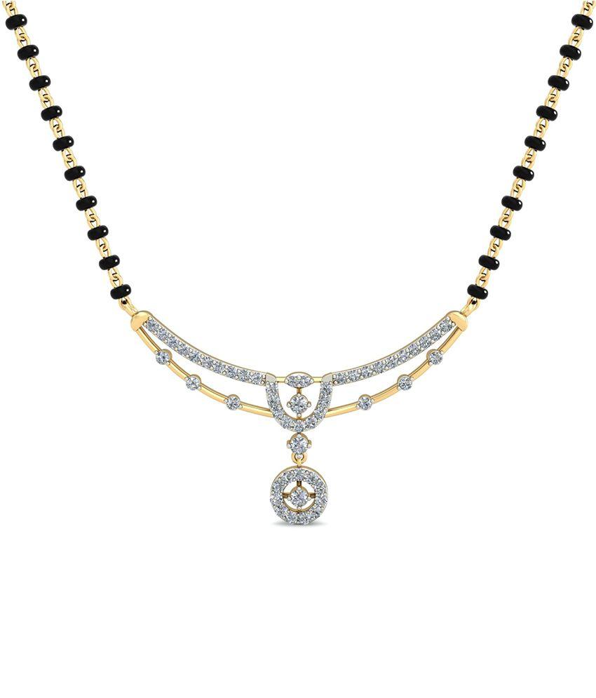 WearYourShine PC Jeweller 18KT Gold The Asisa Diamond Mangalsutra
