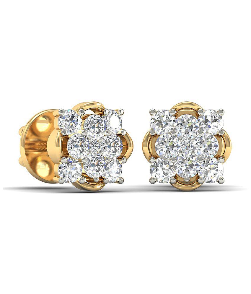 WearYourShine PC Jeweller 18KT Gold The Severina Diamond Earrings