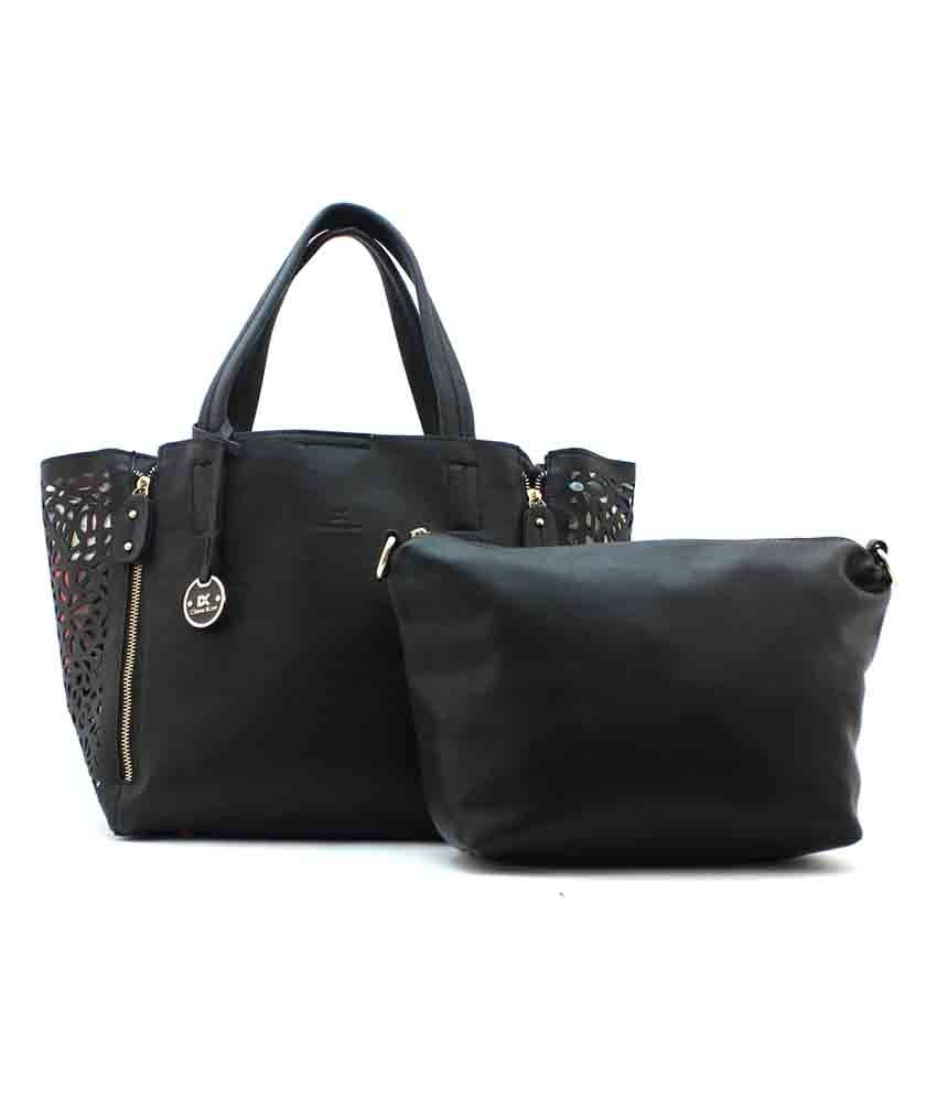 Diana Korr Black Faux Leather Shoulder Bag - Buy Diana Korr Black Faux  Leather Shoulder Bag Online at Best Prices in India on Snapdeal ae5591f6927f6