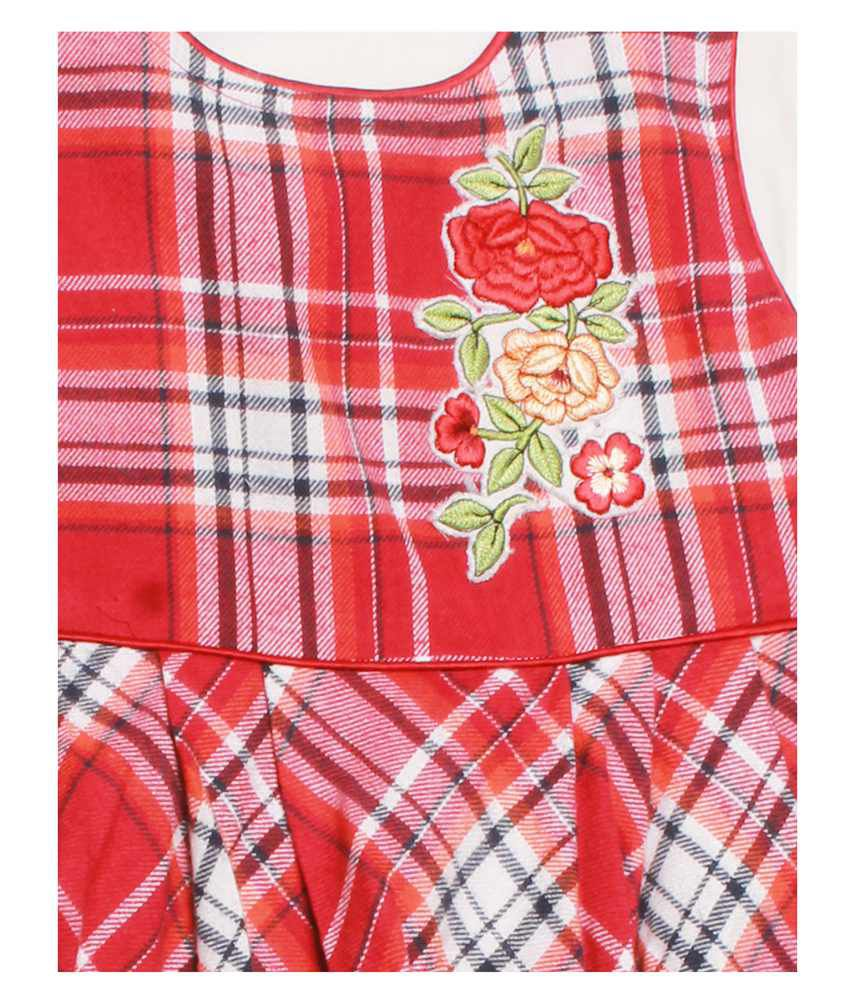 small wonders baby winter frock red buy small wonders baby winter