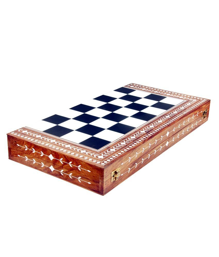 Ganga Ram Tulsi Ram Chess Box Folding With Black And White Coins