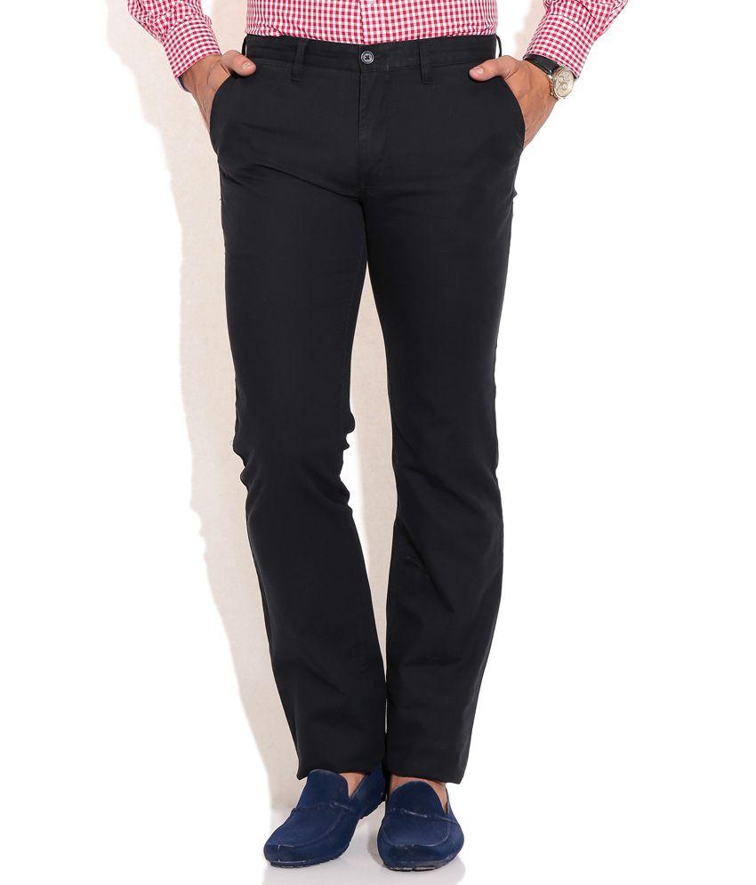 Indian Terrain Navy Blue Casuals Trouser