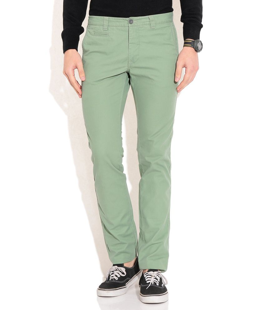 Indian Terrain Green Formals Trouser