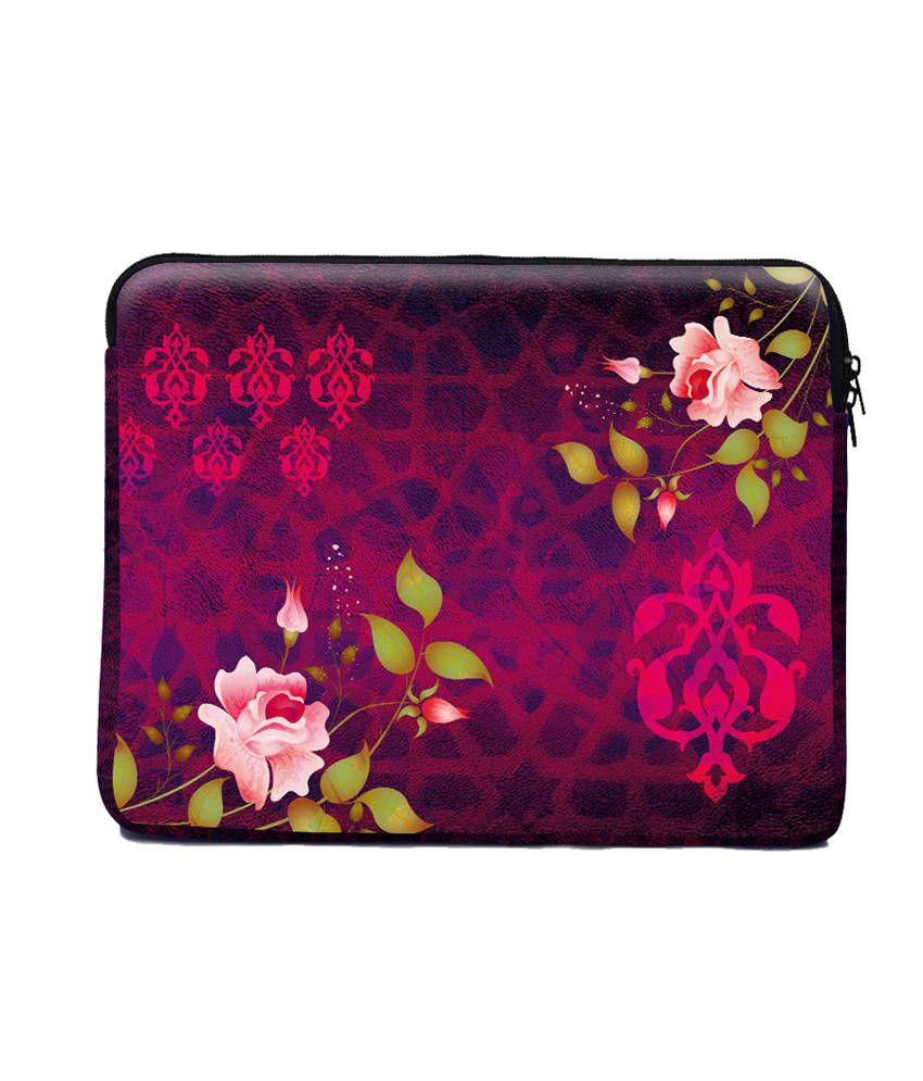 The Ringmaster Pink Rose Neoprene Laptop Sleeve