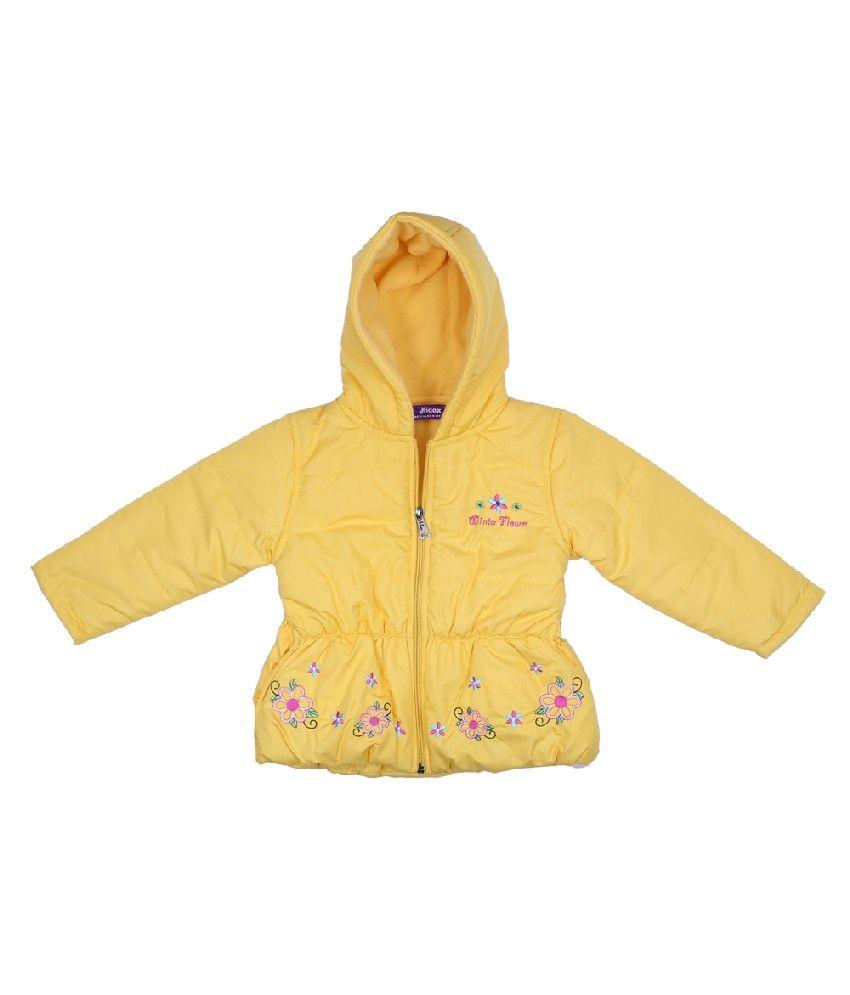 Woollen Wear Full Sleeves Yellow Color Jacket For Kids