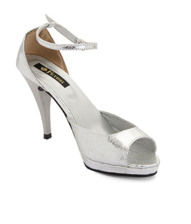 Fetish Women's Jackie Silver Heels