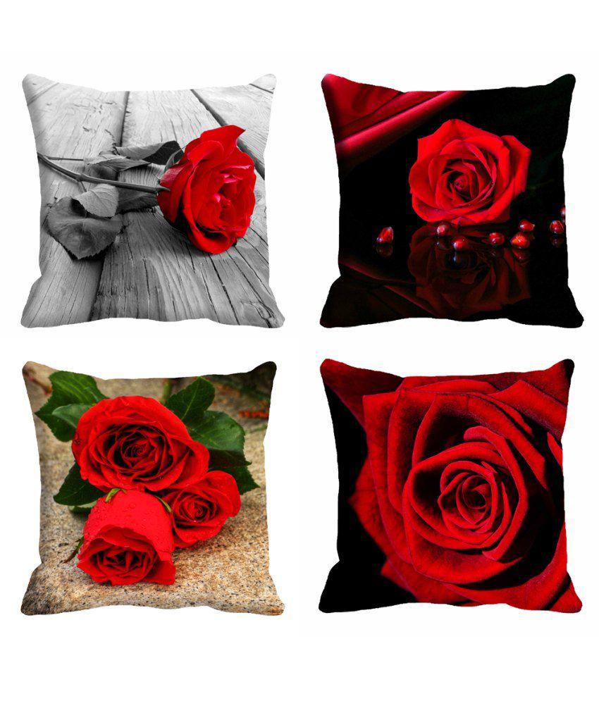 Mesleep Combo Digitally Printed Cushion Cover Pack Of 4