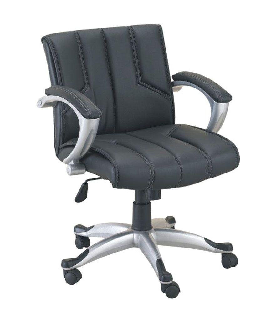 Hetal Agencies Black Metal Office Chair