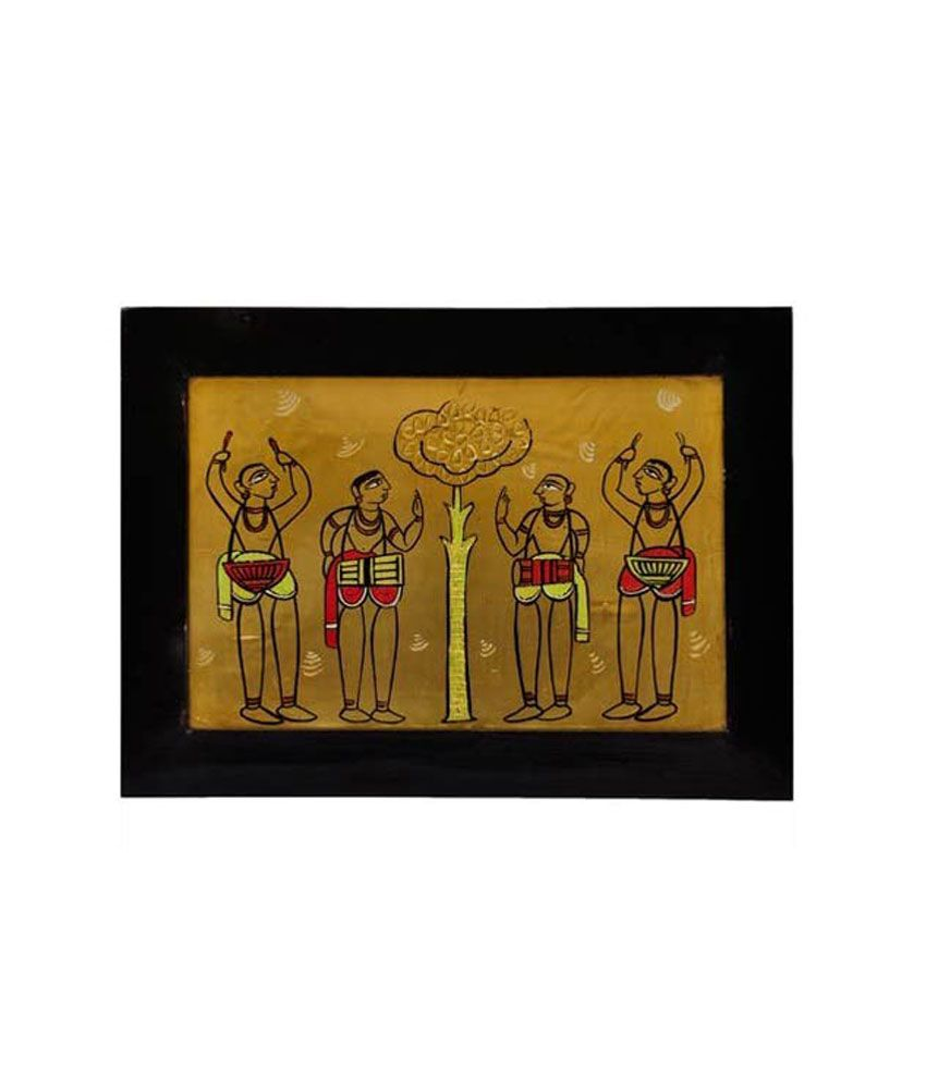 Justclik Jamini Roy's Form Copper Painting Wall Hanging