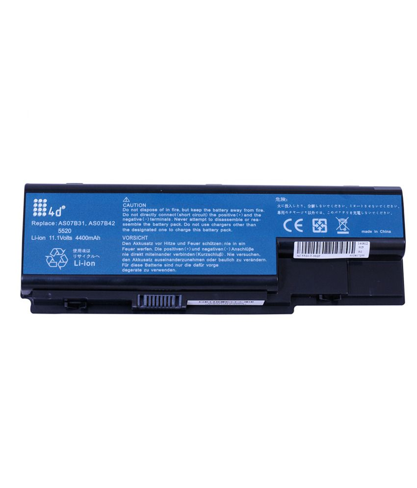 4d Acer Aspire 8730g-6042 6 Cell Laptop Battery