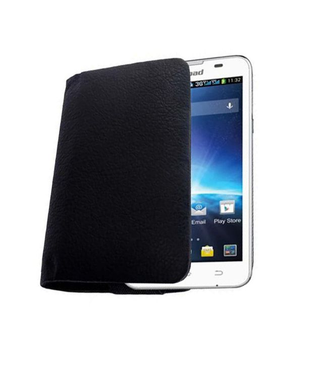 Acm Rich Leather Soft Carry Case Spice Coolpad 2 Mi 496 Mobile Handpouch Cover New   White available at SnapDeal for Rs.299