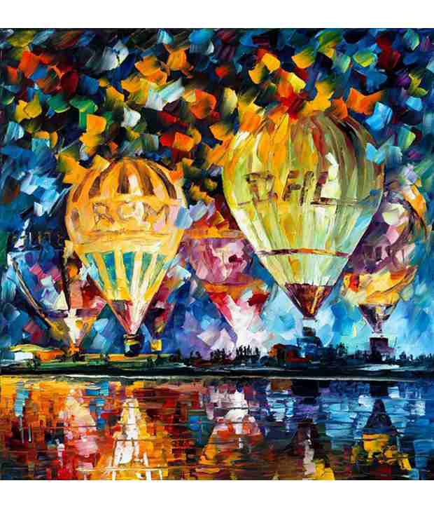 Wonderwallz Images Beautiful Hot Air Ballon Canvas Art