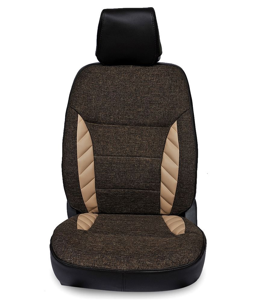 Gaadikart Mahindra Xuv500 Car Seat Covers In Jute Orra