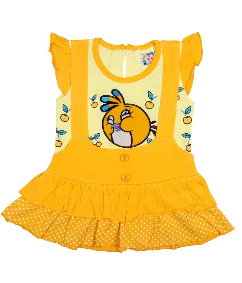 f51a312d9 Little Life Baby Frock 100% Cotton (gold) (dn-158) (size  S) - Buy Little  Life Baby Frock 100% Cotton (gold) (dn-158) (size  S) Online at Low Price -  ...