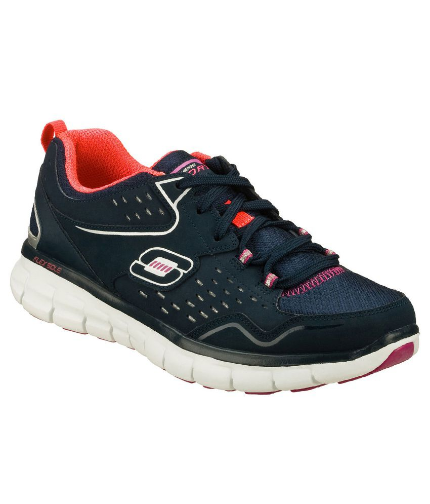 skechers navy purple synergy front row sports shoes. Black Bedroom Furniture Sets. Home Design Ideas