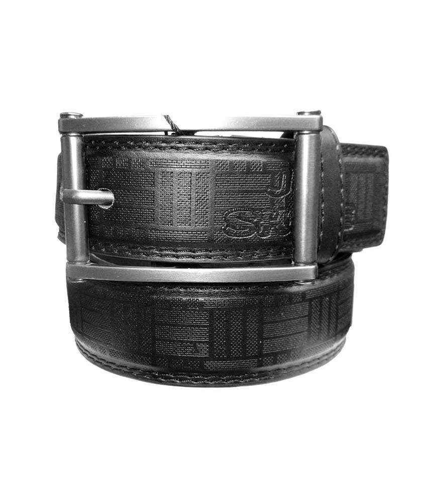 Urfashion Black Non Leather Casual Belt For Men