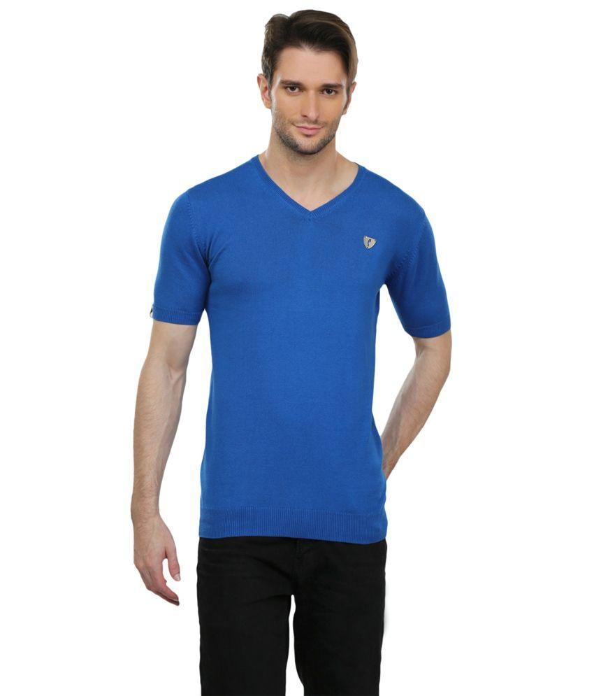 Stride Blue V-neck T-shirt
