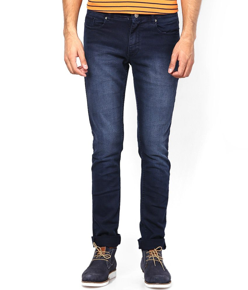 American Swan Navy Cotton Jeans