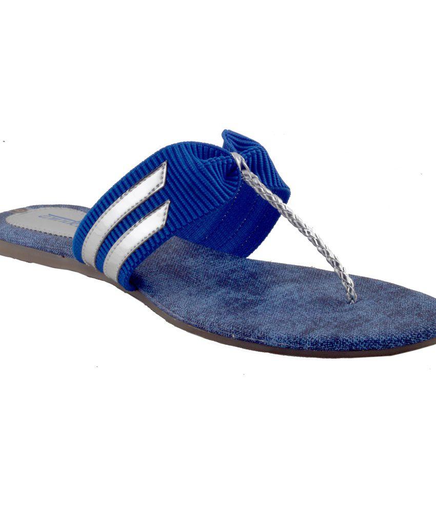 Amukta Blue Jeans Comfort Flat Sandal
