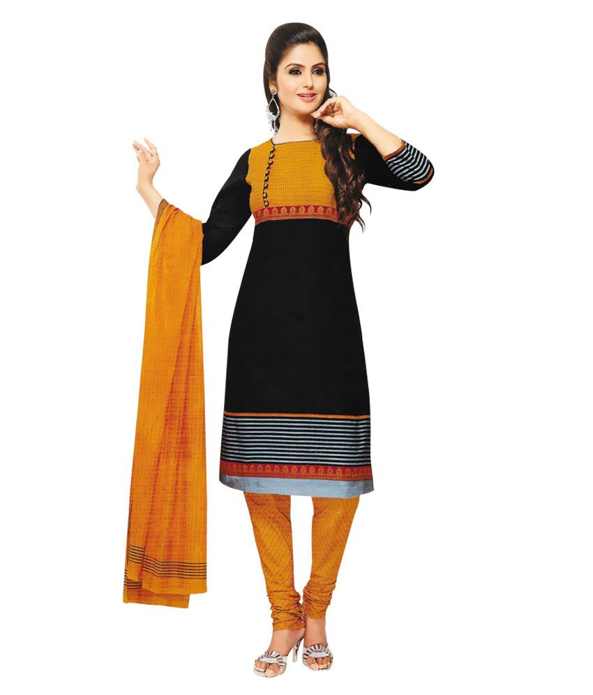 Anvi Black Dress Material Dres Material