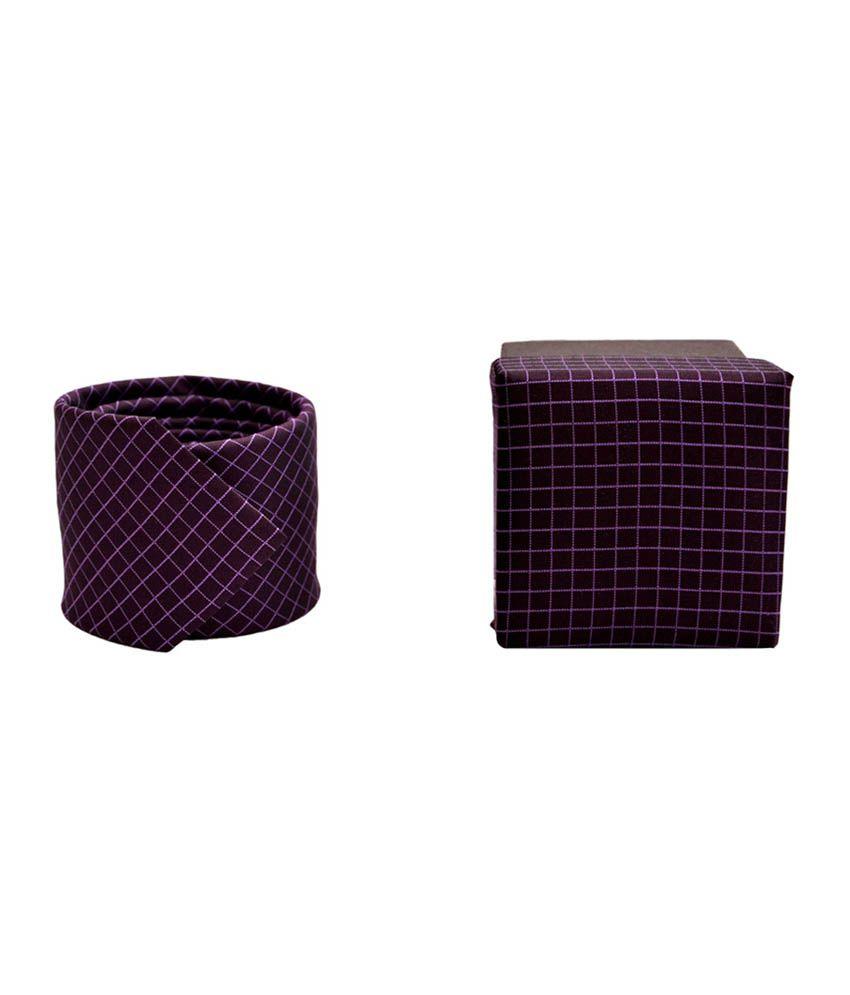 Carress Purple Formal Designer Tie