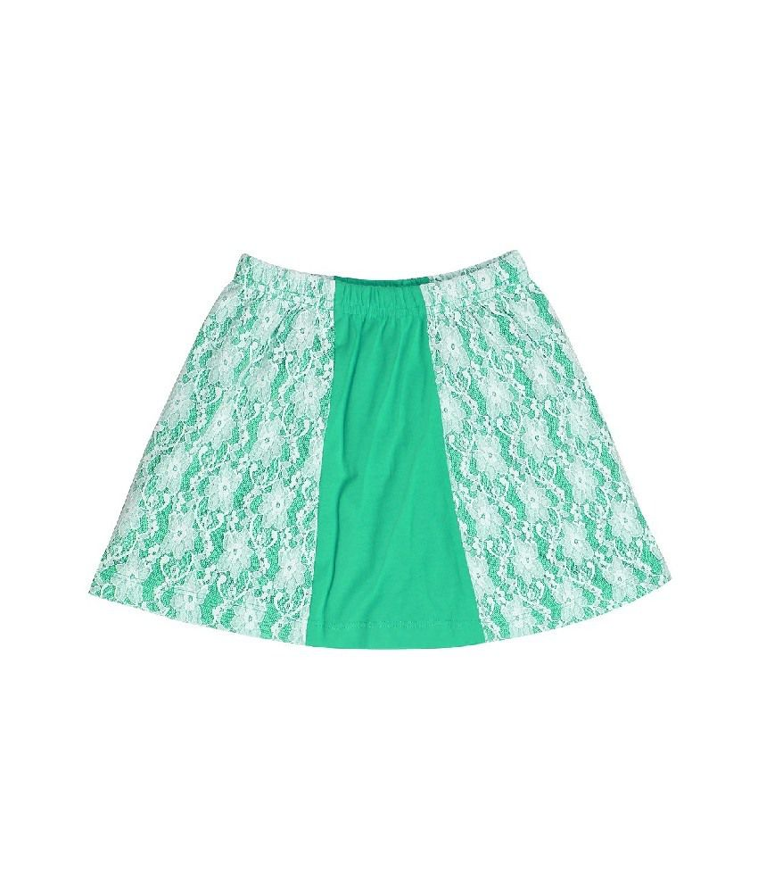 Dreamszone Green Color Skirts For Kids