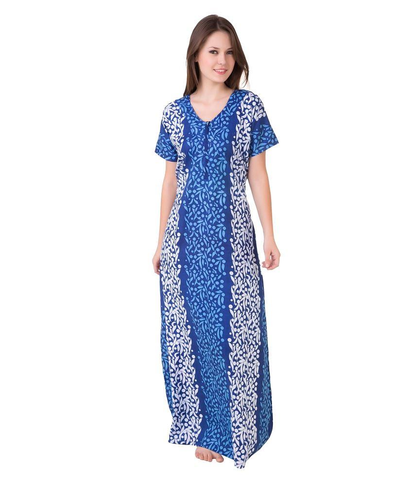 Buy Cotton Nighty Online India Buy Masha Green Cotton Nighty Online ... 254395568