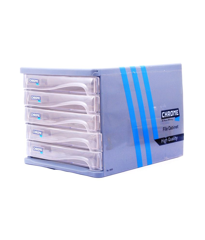 Chrome Plastic 5 Drawers File Cabinet: Buy Online at Best Price in ...