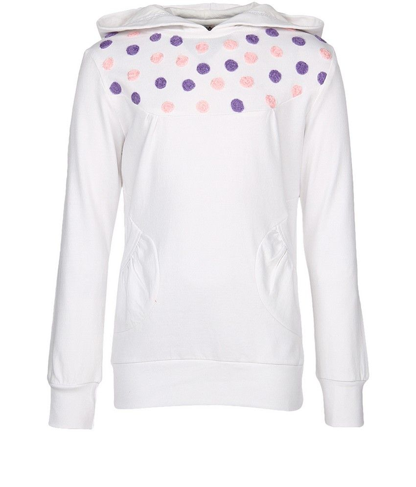 Cool Quotient White Sweat Shirt