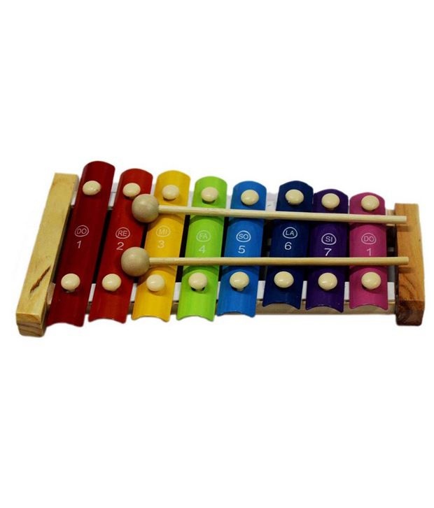 Tootpado Cute Multicolor Wooden Xylophone For Kids Musical Toy